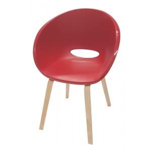 Cadeira Elena - Base Madeira