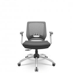 Cadeira Beezi Giratória Cromada